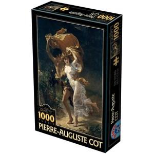 """D-Toys (72740-1) - Pierre-Auguste Cot: """"The Storm, 1880"""" - 1000 piezas"""