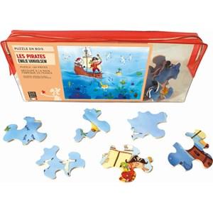 """Puzzle Michele Wilson (W151-24) - Emilie Vanvolsem: """"Pirates"""" - 24 piezas"""