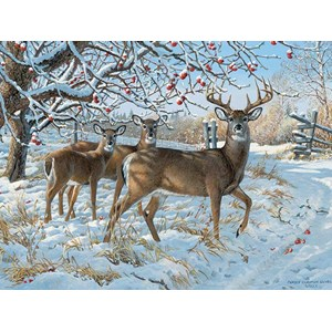 """Cobble Hill (52083) - Persis Clayton Weirs: """"Winter Deer"""" - 500 piezas"""