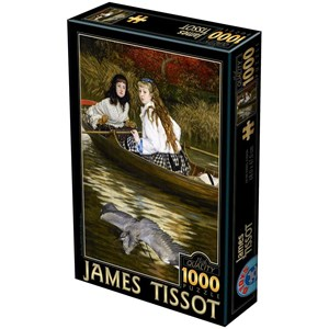 "D-Toys (72771-1) - James Tissot: ""On the Thames, A Heron"" - 1000 piezas"