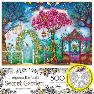 """Buffalo Games (3843) - Johanna Basford: """"Songbird Garden"""" - 500 piezas"""
