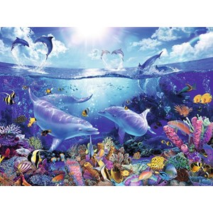 "Ravensburger (16331) - Christian Riese Lassen: ""Day of the Dolphins"" - 1500 piezas"