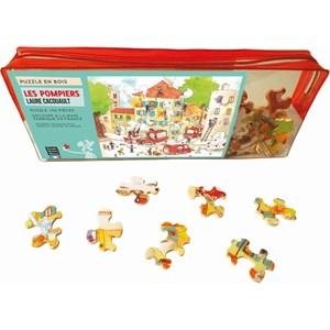 """Puzzle Michele Wilson (W113-50) - Laure Cacouault: """"The Firemen"""" - 50 piezas"""