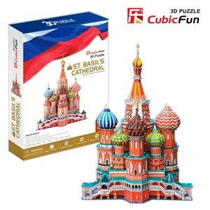 "Cubic Fun (MC093H) - Fredric Church: ""Saint Basil the Blessed Cathedral of Moscow"" - 214 piezas"