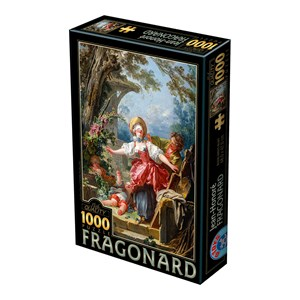 "D-Toys (72702-1) - Jean-Honoré Fragonard: ""Blind Man's Bluff"" - 1000 piezas"