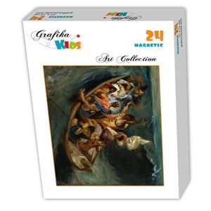"Grafika (00292) - Eugene Delacroix: ""Christ on the Sea of Galilee, 1841"" - 24 piezas"