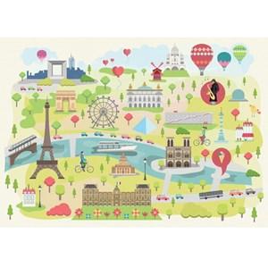 """Puzzle Michele Wilson (W305-24) - """"Magda, Illustrated Paris"""" - 24 piezas"""