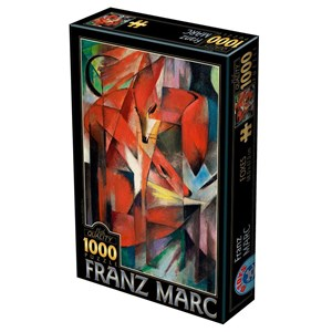 """D-Toys (72856-MA01) - Franz Marc: """"Foxes"""" - 1000 piezas"""