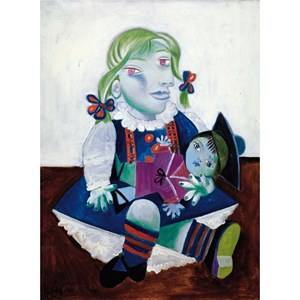 "Puzzle Michele Wilson (W91-12) - Pablo Picasso: ""Maya with the Doll"" - 12 piezas"