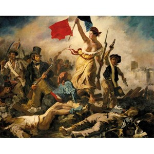 """Puzzle Michele Wilson (A460-350) - Eugene Delacroix: """"La Liberté Guidant le Peuple"""" - 350 piezas"""
