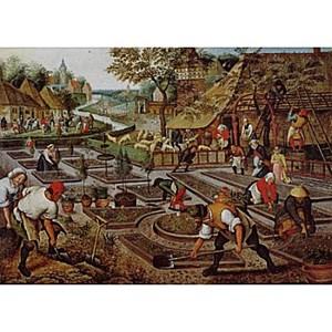 "D-Toys (66947-BR01) - Pieter Brueghel the Elder: ""Spring"" - 1000 piezas"