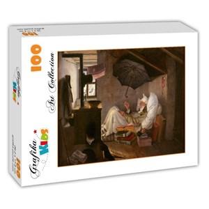 "Grafika Kids (01257) - Carl Spitzweg: ""The Poor Poet, 1839"" - 100 piezas"