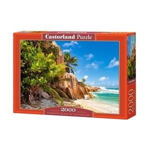 "Castorland (C-200665) - ""Paradise Beach of Seychelles"" - 2000 piezas"