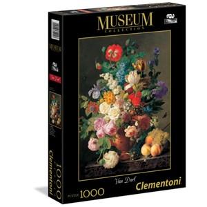 """Clementoni (31415) - Jan Frans Van Dael: """"Flowers in Vase"""" - 1000 piezas"""