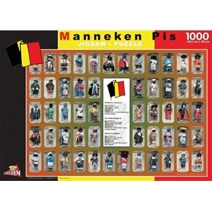 "PuzzelMan (096) - ""Belgium, Manneken Pis"" - 1000 piezas"