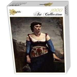 "Grafika (01980) - Jean-Baptiste-Camille Corot: ""Agostina, 1866"" - 1000 piezas"
