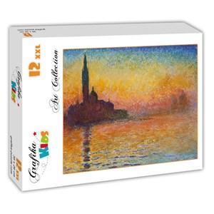 """Grafika (00095) - Claude Monet: """"Saint-Georges-Majeur au Crépuscule, 1908"""" - 12 piezas"""