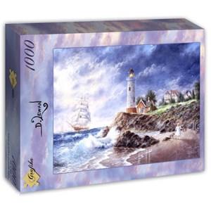 """Grafika (T-00512) - Dennis Lewan: """"Anchor Cove"""" - 1000 piezas"""