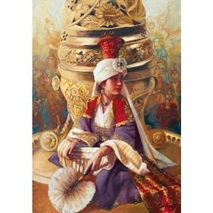 """Educa (14724) - Kamil Aslanger: """"Sultan Mahi Nigar and Incensory"""" - 1000 piezas"""