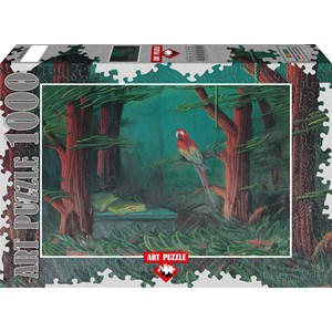"Art Puzzle (61015) - Ahmet Yesil: ""The Guest of the Forest"" - 1000 piezas"