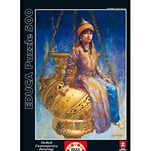 """Educa (14723) - Kamil Aslanger: """"Oil Lamp"""" - 500 piezas"""