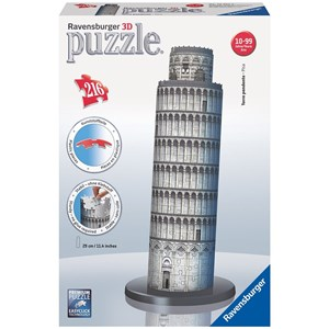 "Ravensburger (12557) - ""Leaning Tower of Pisa"" - 216 piezas"