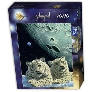 """Grafika (T-00422) - Schim Schimmel, William Schimmel: """"Lair of the Snow Leopard"""" - 1000 piezas"""