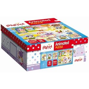"""Ludattica (52486) - """"Animated Puzzle"""" - 18 piezas"""