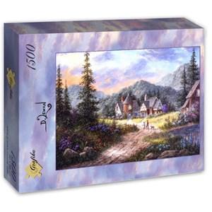 "Grafika (T-00499) - Dennis Lewan: ""Hills Of Bavaria"" - 1500 piezas"