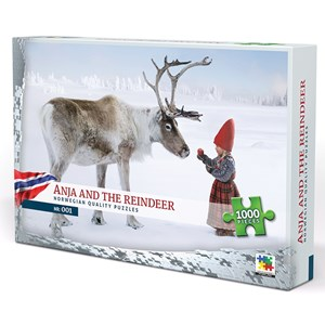 """Vennerod forlag (001) - Per Breiehagen: """"Anja and the Reindeer"""" - 1000 piezas"""