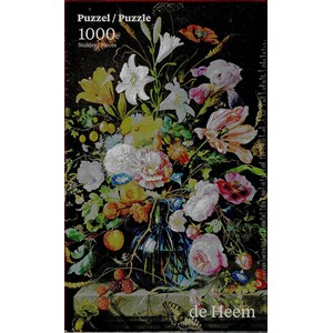 "PuzzelMan (760) - Jan Davidsz de Heem: ""Vase with Flowers"" - 1000 piezas"