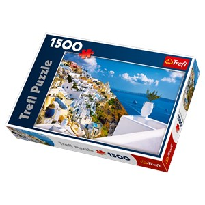 """Trefl (26119) - """"Santorini, Greece"""" - 1500 piezas"""