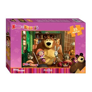 "Step Puzzle (91211) - ""Masha and The Bear"" - 35 piezas"