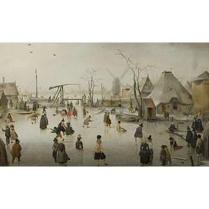 """PuzzelMan (733) - Hendrick Avercamp: """"On the Ice"""" - 1000 piezas"""