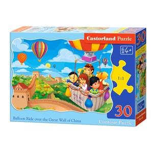 "Castorland (B-03648) - ""Balloon Ride over the Grat Wall of China"" - 30 piezas"