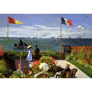 "Grafika (00036) - Claude Monet: ""Terrasse à Sainte-Adresse, 1867"" - 1000 piezas"