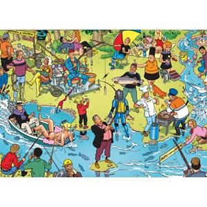 """PuzzelMan (119) - Willems Wereld: """"Fishing"""" - 1000 piezas"""