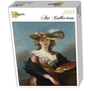 """Grafika (02173) - Élisabeth Vigée Le Brun: """"Self-portrait in a Straw Hat, 1782"""" - 300 piezas"""