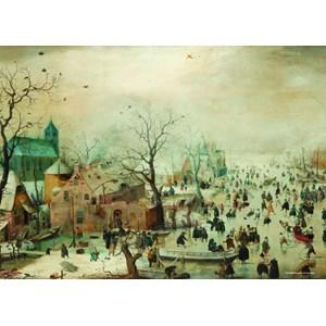 "PuzzelMan (383) - Hendrick Avercamp: ""Winter landscape"" - 1000 piezas"
