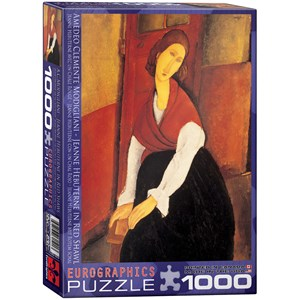 "Eurographics (6000-1501) - Amedeo Modigliani: ""Jeanne Hebuterne in Red Shawl"" - 1000 piezas"