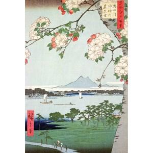 "Puzzle Michele Wilson (A974-350) - Utagawa (Ando) Hiroshige: ""Apple Trees in Bloom"" - 350 piezas"