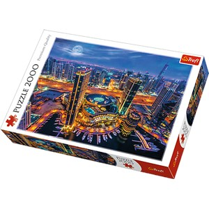 "Trefl (27094) - ""Lights of Dubai"" - 2000 piezas"