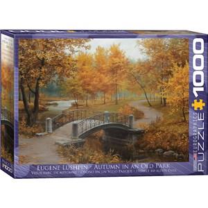 "Eurographics (6000-0979) - Eugene Lushpin: ""Autumn in an Old Park"" - 1000 piezas"