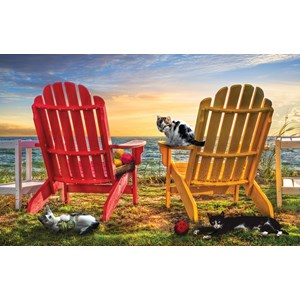 """SunsOut (30112) - Celebrate Life Gallery: """"Cat Nap at the Beach"""" - 1000 piezas"""