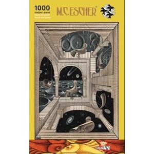 """PuzzelMan (863) - M. C. Escher: """"Different World"""" - 1000 piezas"""