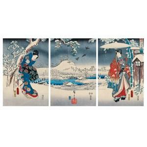 "Puzzle Michele Wilson (A541-2500) - Utagawa (Ando) Hiroshige: ""Genji"" - 2500 piezas"