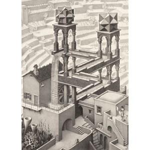 """PuzzelMan (819) - M. C. Escher: """"Waterfall"""" - 1000 piezas"""