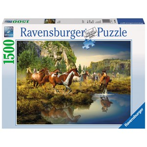 "Ravensburger (16304) - Roberta Wesley: ""Wild Horses"" - 1500 piezas"