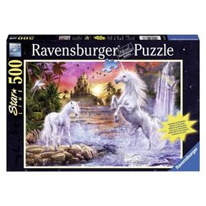 "Ravensburger (14873) - ""Unicorns At the River"" - 500 piezas"