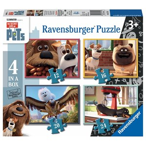 "Ravensburger (07139) - ""The Secret Life of Pets"" - 12 16 20 24 piezas"